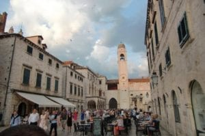 The inner walls of old town Dubrovnik in Croatia