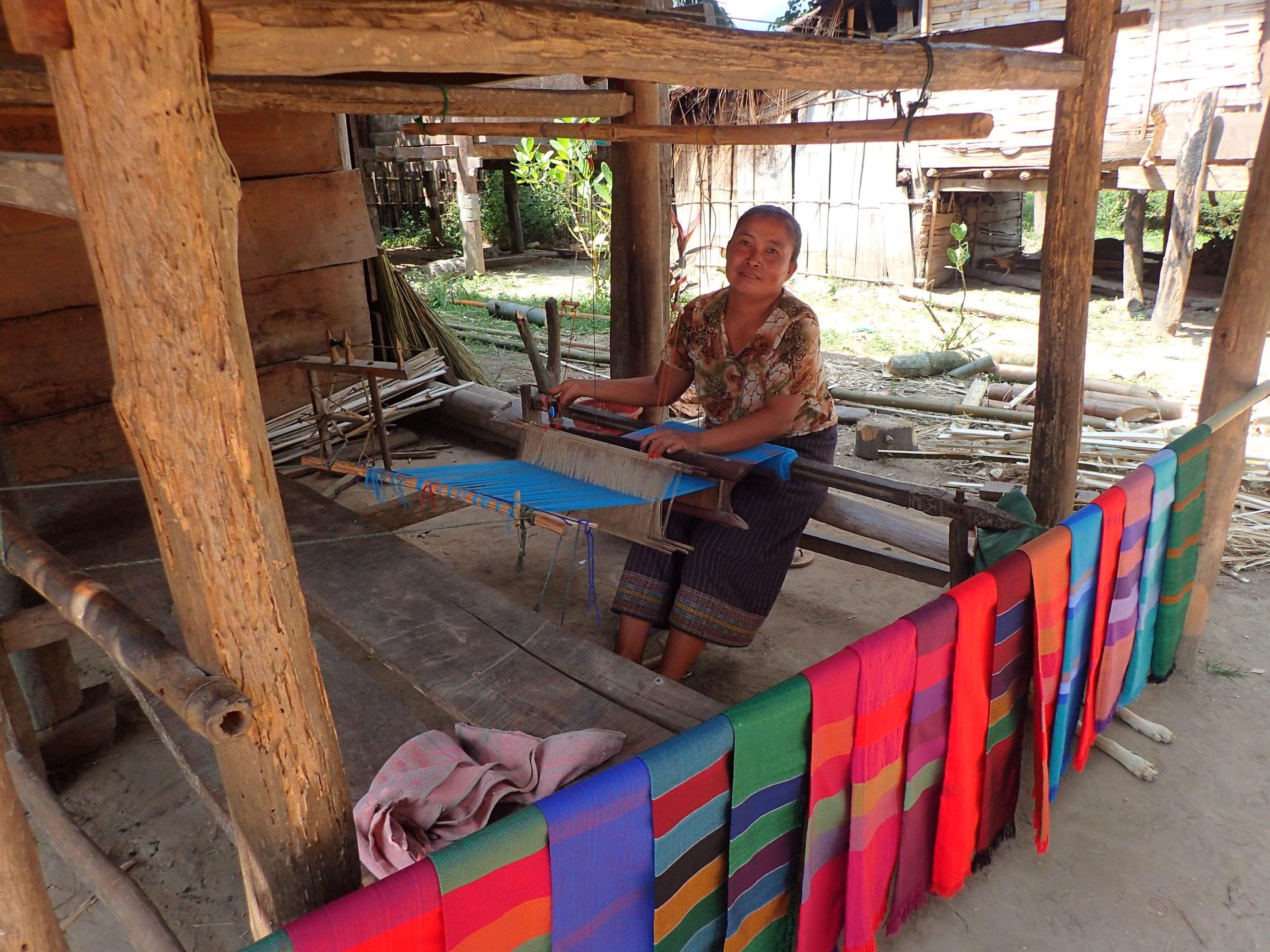 Local woman weaving