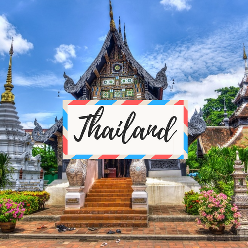 """image of Thailand - with large text in the middle that says """"Thailand"""""""
