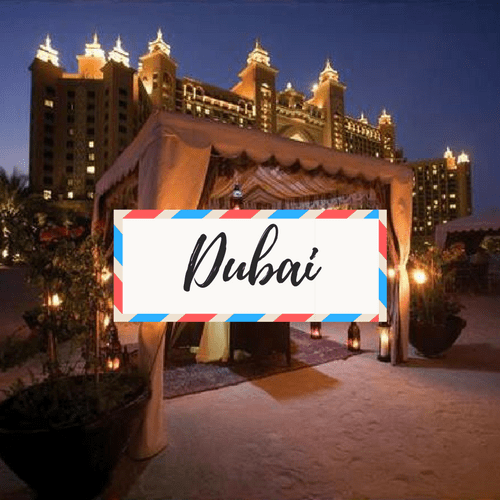 "image of Dubai - with large text in the middle that says ""Dubai"""