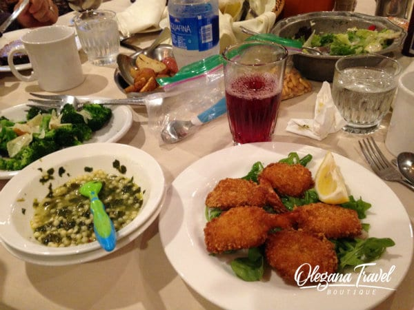 Dinner at Woodloch: Fried Butterflied Shrimp and Italian Wedding Soup