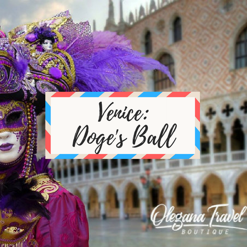 """image of a Venice - with large text in the middle that says """"Venice: Doge's Ball"""""""