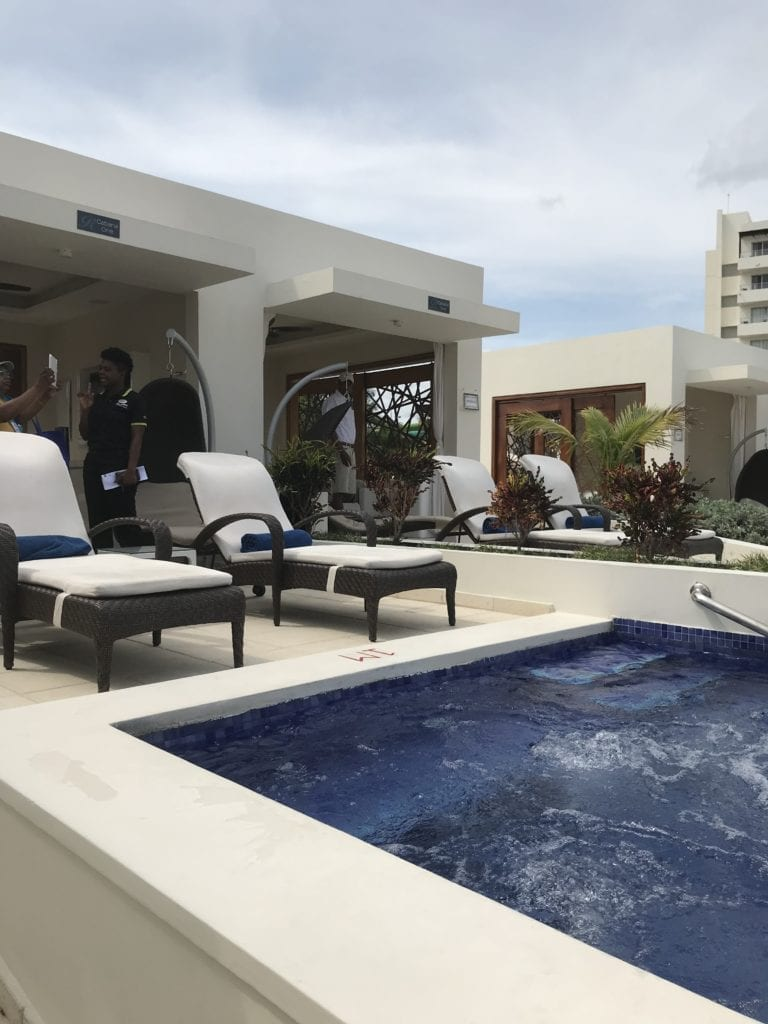 Cabana poolside at Royalton Blue Waters