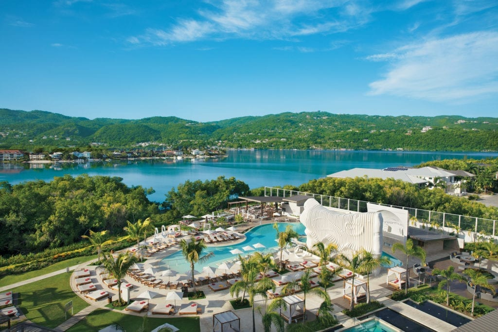 Aerial Pool View of Breathless Montego Bay