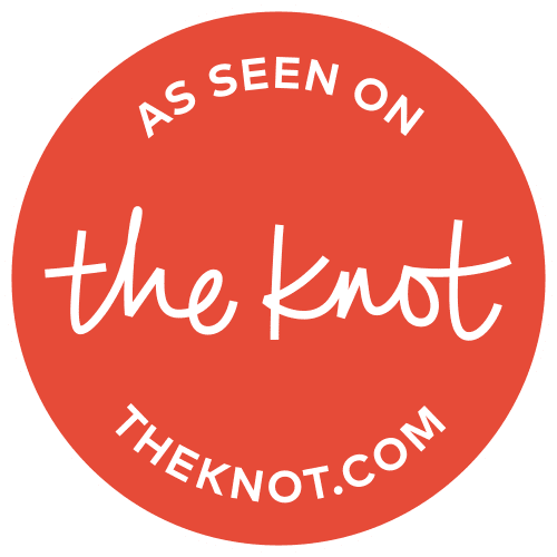 "Logo of ""The Knot"" with ""as seen on theknot.com"""