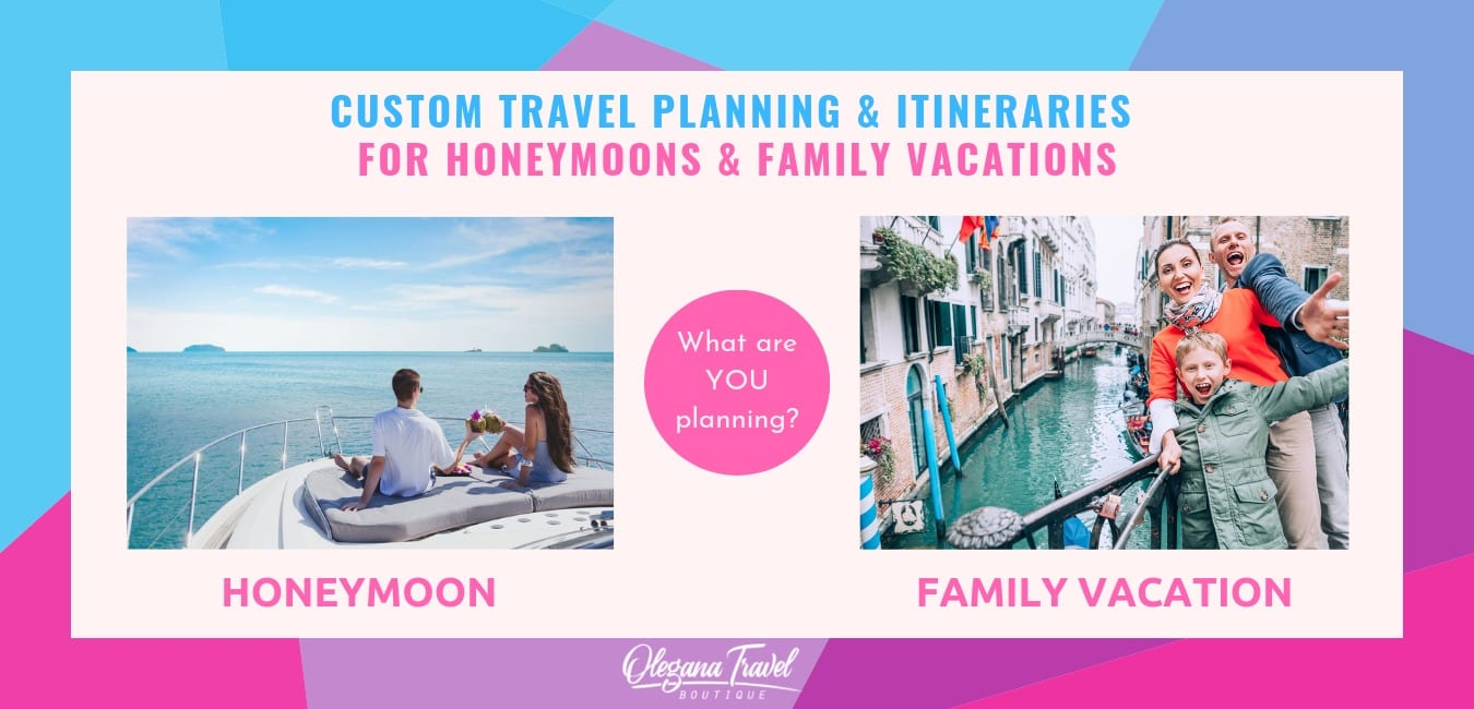 Image of family vacation in Venice and Caribbean